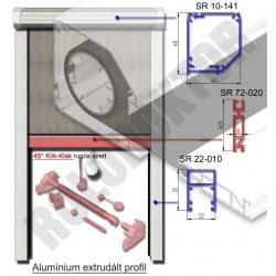 Alumínium rolós szúnyogháló SZÖGLETES tokkal, UNI hálóakasztóval KLIK - KLAKKAL