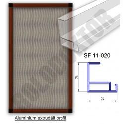 Fix keretes szúnyogháló 24 x 24mm alumínium extrudált profilból, rögzítése műanyag riglivel