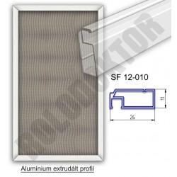 Fix keretes szúnyogháló 11 x 26mm alumínium extrudált profilból, rögzítése műanyag rigli vagy mágnes
