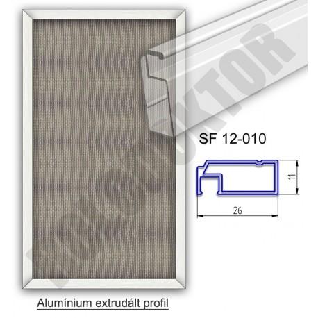 Alumínium fix keretes szúnyogháló 11 x 26mm, műanyag riglivel