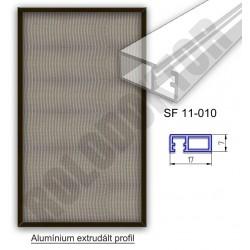 Fix keretes szúnyogháló 7 x 17mm alumínium extrudált profilból, rögzítése műanyag riglivel