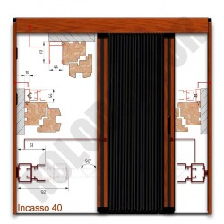 PLISSE szúnyogháló ajtó, Incasso 40