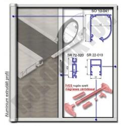 Alumínium rolós szúnyogháló ajtó ÍVES tokkal, MÁGNESES záródással