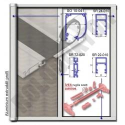Alumínium rolós szúnyogháló ajtó ÍVES tokkal, ZSINÓROS nyílásszabályozóval -  MÁGNESES záródással