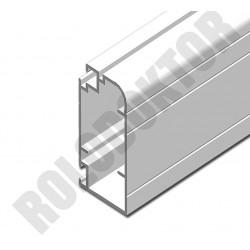Szárnyprofil, alumínium extrudált  40 x 20mm, ÚJ ÍVES pántos szúnyogháló ajtóhoz