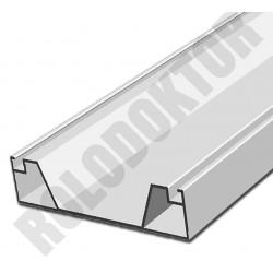 Merevítő (rugdosó) profil, alumínium extrudált 75 x 17mm,  SZÖGLETES (45x20) pántos szúnyogháló ajtóhoz