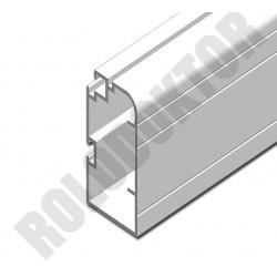 Szárnyprofil, alumínium extrudált  40 x 20mm, ÍVES pántos szúnyogháló ajtóhoz