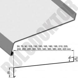 Alumínium hajlított 0,8mm ablakpárkány KÜLTÉRI